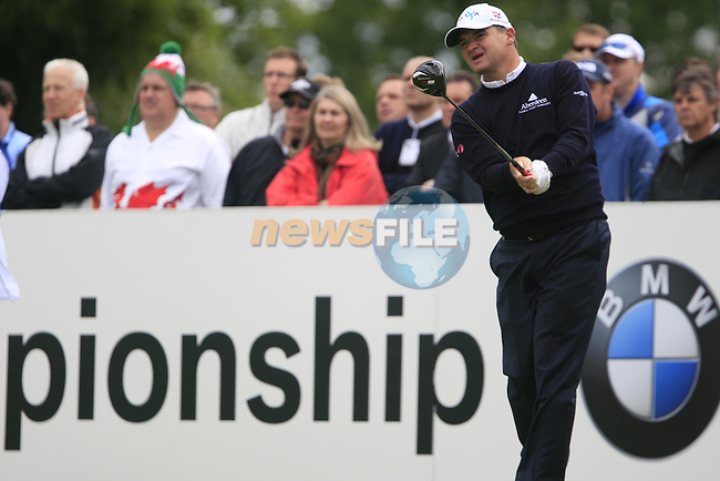 Paul Lawrie (SCO) tees off on the 1st tee to start his round on Day 2 of the BMW PGA Championship Championship at, Wentworth Club, Surrey, England, 27th May 2011. (Photo Eoin Clarke/Golffile 2011)