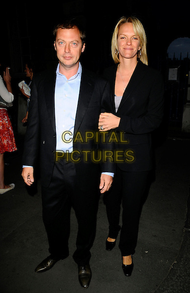 MATTHEW FREUD & LIZ MURDOCH.Rupert Murdoch Summer party, Somerset House, London, England..June 16th, 2008.full length black suit married husband wife .CAP/CAN.©Can Nguyen/Capital Pictures.