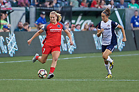 Portland, OR - Saturday July 22, 2017: Lindsey Horan, Havana Solaun during a regular season National Women's Soccer League (NWSL) match between the Portland Thorns FC and the Washington Spirit at Providence Park.
