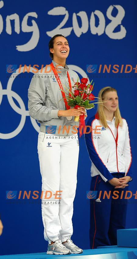 Alessia Filippi, Italia, medaglia d'argento 800 metri stile libero.<br /> NAtional Aquatics Centre - Nuoto<br /> Pechino - Beijing 16/8/2008 Olimpiadi 2008 Olympic Games<br /> Foto Andrea Staccioli Insidefoto