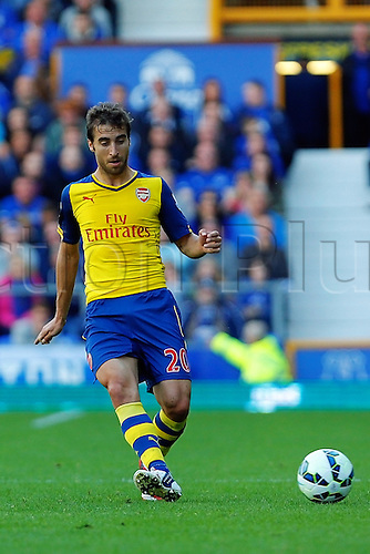 23.08.2014.  Liverpool, England. Premier League. Everton versus Arsenal. Arsenal midfielder Mathieu Flamini profile