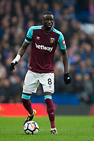 West Ham United's Cheikhou Kouyate in action <br /> <br /> Photographer Craig Mercer/CameraSport<br /> <br /> The Premier League - Chelsea v West Ham United - Sunday 8th April 2018 - Stamford Bridge - London<br /> <br /> World Copyright &copy; 2018 CameraSport. All rights reserved. 43 Linden Ave. Countesthorpe. Leicester. England. LE8 5PG - Tel: +44 (0) 116 277 4147 - admin@camerasport.com - www.camerasport.com