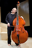 "Christopher Hunter stars in ""The Double Bass"", a one man play opening at the New End Theatre, Hampstead, London. Directed by Christopher Hunter and Andrew Jarvis, written by Patrick Süskind, Translation by Michael Hoffman."