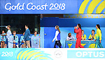 Hannah Miley (SCO) marches in to receive her silver medal in the womens 400m Individual medley. Swimming finals. XXI Commonwealth games. Optus Aquatics Centre. Gold Coast 2018. Queensland. Australia. 05/04/2018. ~ MANDATORY CREDIT Garry Bowden/SIPPA - NO UNAUTHORISED USE - +44 7837 394578