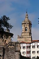 Europe/Espagne/Pays Basque/Guipuscoa/Fontarrabie:  L'église Notre-Dame-de-l'Assomption