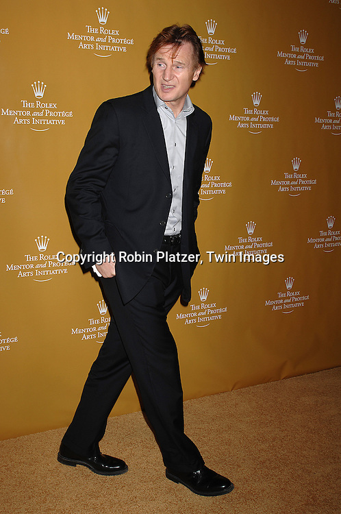 Liam Neeson..arriving at The Rolex Mentor and Protege Art's Initiative Event on November 12, 2007 at The State Theatre in Lincoln Center in New York. ..Robin Platzer, Twin Images....212-935-0770