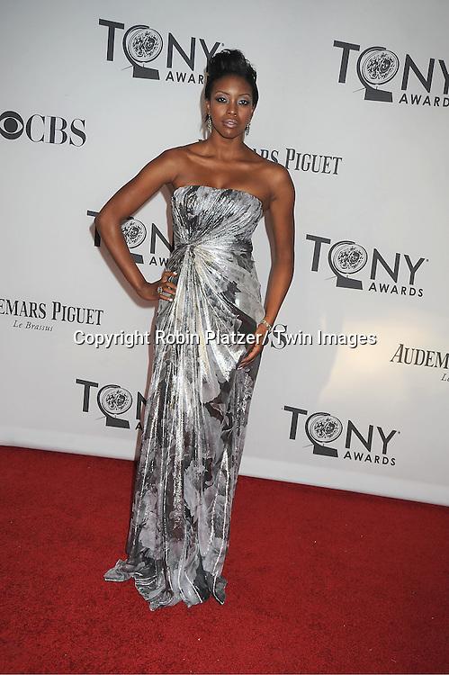Condola Rashad attends th 66th Annual Tony Awards on June 10, 2012 at The Beacon Theatre in New York City.
