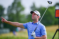 Bradley Dredge (WAL) watches his tee shot on 12 during Thursday's round 1 of the 117th U.S. Open, at Erin Hills, Erin, Wisconsin. 6/15/2017.<br /> Picture: Golffile | Ken Murray<br /> <br /> <br /> All photo usage must carry mandatory copyright credit (&copy; Golffile | Ken Murray)