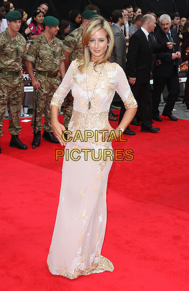 Lady Victoria Hervey.'The Expendables 2' UK film premiere held at the Empire Leicester Square,.London, England..13th August 2012.full length dress gold white beads beaded hand on hip .CAP/ROS.©Steve Ross/Capital Pictures.