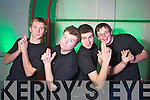"Conor Nolan, Jamie Sugrue, Michael Mather and Daniel Carmody Students from Mercy Mounthawk who put on their christmas concert the ""M FActor blast from the past"" on Thursday."