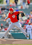 6 March 2012: Washington Nationals pitcher Chad Durbin on the mound during a Spring Training game against the Atlanta Braves at Champion Park in Disney's Wide World of Sports Complex, Orlando, Florida. The Nationals defeated the Braves 5-2 in Grapefruit League action. Mandatory Credit: Ed Wolfstein Photo