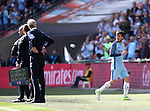 Manchester City's David Silva goes off injured during the FA Cup Semi Final match at Wembley Stadium, London. Picture date: April 23rd, 2017. Pic credit should read: David Klein/Sportimage