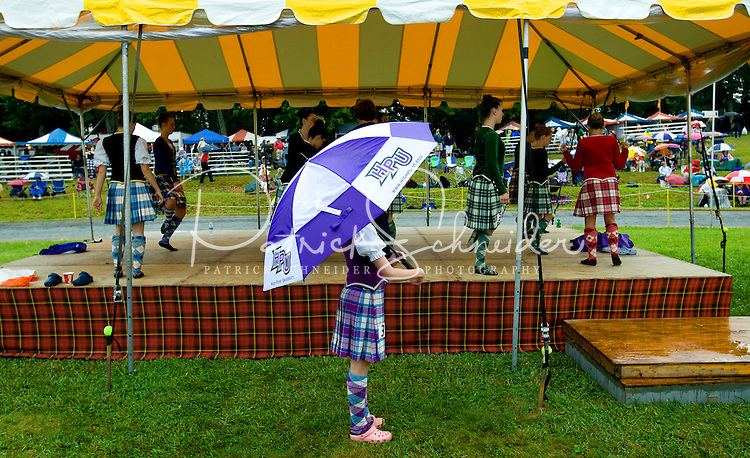 A dancer waits to perform during the 52nd Annual Grandfather Mountain Highland Games in Linville, NC.