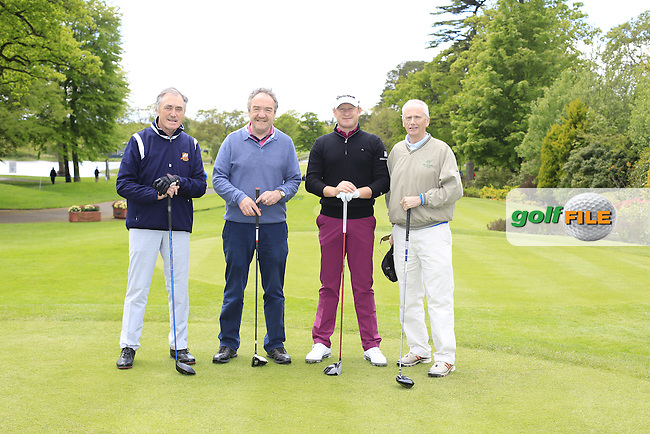 Jamie Donaldson's (WAL) team during Wednesday's Pro-Am of the 2016 Dubai Duty Free Irish Open hosted by Rory Foundation held at the K Club, Straffan, Co.Kildare, Ireland. 18th May 2016.<br /> Picture: Eoin Clarke | Golffile<br /> <br /> <br /> All photos usage must carry mandatory copyright credit (&copy; Golffile | Eoin Clarke)