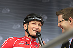 Andre Greipel (GER) Lotto-Soudal at sign on in Dusseldorf before the start of Stage 2 of the 104th edition of the Tour de France 2017, running 203.5km from Dusseldorf, Germany to Liege, Belgium. 2nd July 2017.<br /> Picture: Eoin Clarke | Cyclefile<br /> <br /> <br /> All photos usage must carry mandatory copyright credit (&copy; Cyclefile | Eoin Clarke)
