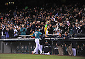 Hisashi Iwakuma (Mariners),.APRIL 12, 2013 - MLB :.Fans applaud Hisashi Iwakuma of the Seattle Mariners as he walks back to the dugout during the baseball game against the Texas Rangers at Safeco Field in Seattle, Washington, United States. (Photo by AFLO)