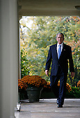 Washington, DC - November 5, 2008 -- United States President George W. Bush arrives to make a statement on the election of Barack Obama as the next president of the United States in the Rose Garden of the White House on Wednesday, November 5, 2004, Washington DC..Credit: Aude Guerrucci - Pool via CNP
