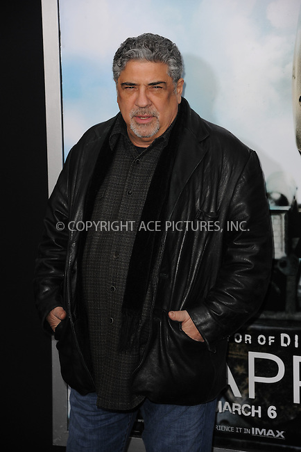 WWW.ACEPIXS.COM<br /> March 4, 2015 New York City<br /> <br /> Vincent Pastore attending the 'Chappie' New York Premiere at AMC Lincoln Square Theater on March 4, 2015 in New York City.<br /> <br /> Please byline: Kristin Callahan/AcePictures<br /> <br /> ACEPIXS.COM<br /> <br /> Tel: (646) 769 0430<br /> e-mail: info@acepixs.com<br /> web: http://www.acepixs.com