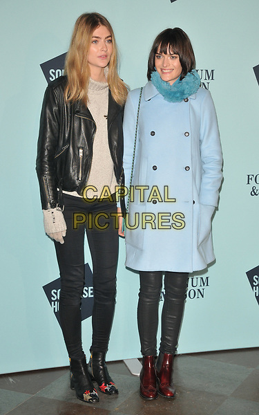 Eve Delf and Sam Rollinson at the Skate at Somerset House wtih Fortnum &amp; Mason VIP launch party, Somerset House, The Strand, London, England, UK, on Tuesday 14 November 2017.<br /> CAP/CAN<br /> &copy;CAN/Capital Pictures