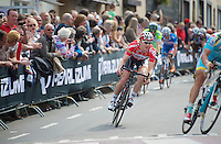 Pim Ligthart (NLD/Lotto-Belisol) turning onto the Cauberg <br /> <br /> Amstel Gold Race 2014