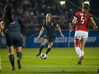 STANFORD, CA - November 9, 2018: Belle Briede at Laird Q. Cagan Stadium. The top seeded Stanford Cardinal defeated the Seattle Redhawks 3-0 in the opening round of the NCAA tournament.
