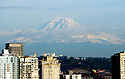 Mt. Rainer overlooking Seattle,Washington on May 20th, 2019.i