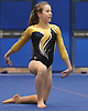 Amanda Ferraro of Bethpage performs her floor routine during a varsity gymnastics meet against host Long Beach High School on Monday, Jan. 4, 2016. Long Beach won the meet by a score of 151.55-147.60.