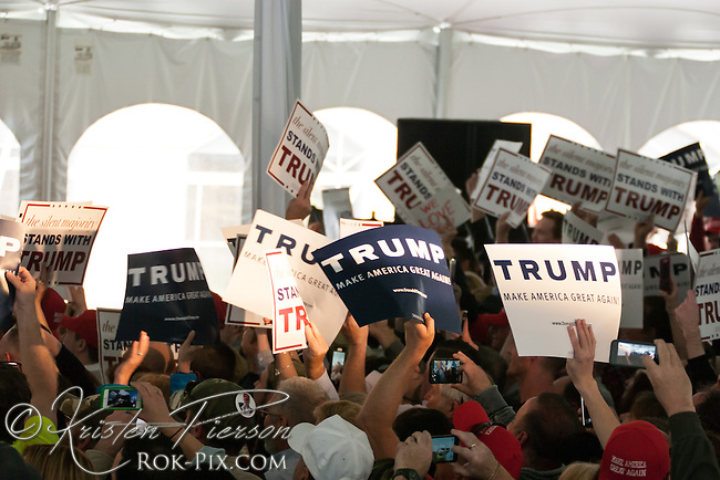 Donald Trump campaign rally in Rhode Island.<br /> <br /> Copyright 2016 Kristen Pierson. All rights reserved. Unauthorized use prohibited.