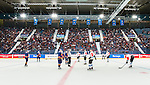 Stockholm 2014-08-21 Ishockey CHL Djurg&aring;rdens IF - Fribourg-Gotteron  :  <br /> Vy &ouml;ver isrinken i Hovet under matchen mellan Djurg&aring;rden och Fribourg-Gotteron<br /> (Foto: Kenta J&ouml;nsson) Nyckelord:  Djurg&aring;rden Hockey Hovet CHL Fribourg Gotteron supporter fans publik supporters inomhus interi&ouml;r interior