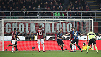 Calcio, Serie A: AC Milan - Inter Milan, Giuseppe Meazza (San Siro) stadium, Milan on 17 March 2019.  <br /> Inter's Stefan De Vrij (fourth from left) celebrates after scoring during the Italian Serie A football match between Milan and Inter Milan at Giuseppe Meazza stadium, on 17 March 2019. <br /> UPDATE IMAGES PRESS/Isabella Bonotto
