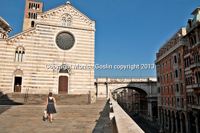 San Stefano, a church above the busy street of Via Dante; the church was built in the Middle Ages