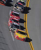 Nov. 1, 2009; Talladega, AL, USA; NASCAR Sprint Cup Series driver Kevin Harvick (29) leads the field during the Amp Energy 500 at the Talladega Superspeedway. Mandatory Credit: Mark J. Rebilas-