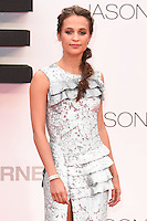 "Alicia Vikander<br /> arrives for the ""Jason Bourne"" premiere at the Odeon Leicester Square, London.<br /> <br /> <br /> ©Ash Knotek  D3139  11/07/2016"