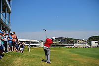 Jon Rahm (ESP) hits his approach shot on 15 during round 6 of the World Golf Championships, Dell Technologies Match Play, Austin Country Club, Austin, Texas, USA. 3/26/2017.<br /> Picture: Golffile | Ken Murray<br /> <br /> <br /> All photo usage must carry mandatory copyright credit (&copy; Golffile | Ken Murray)