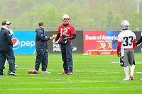 June 6, 2017: New England Patriots quarterback Tom Brady (12) takes a break during the New England Patriots mini camp held on the practice field at Gillette Stadium, in Foxborough, Massachusetts. Eric Canha/CSM