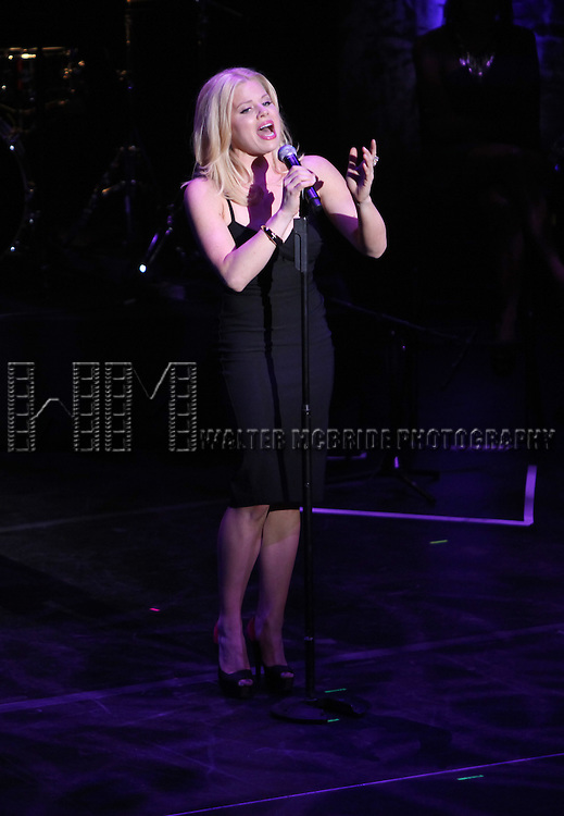 Megan Hilty.performing in 'MISCAST 2012' MCC Theatre's Annual Musical Spectacular at The Hammerstein Ballroom in New York City on 3/26/2012.