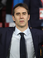 Spanish coach Julen Lopetegui<br /> Spain vs Argentina selections team pre Russian Soccer World Cup football match at Wanda Metropolitano stadium in Madrid on March 27, 2018.