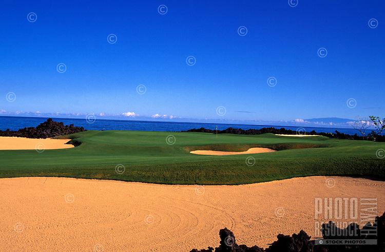 Hualalai Resort, No. 17, Big Island, Hawaii.  Architect: Jack Nicklaus