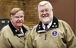 WATERBURY CT. 22 January 2018-012219SV02-From left, Bob Dorr and Jack Shea of the Waterbury Veterans Memorial Committee in Waterbury Tuesday.<br /> Steven Valenti Republican-American