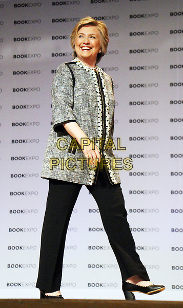 NEW YORK, NY - JUNE 1: BookExpo 2017 presents An Evening with Hillary Rodham Clinton at the Jacob K. Javits Convention Center in New York city on June 01, 2017. <br /> CAP/MPI/RW<br /> &copy;RW/MPI/Capital Pictures