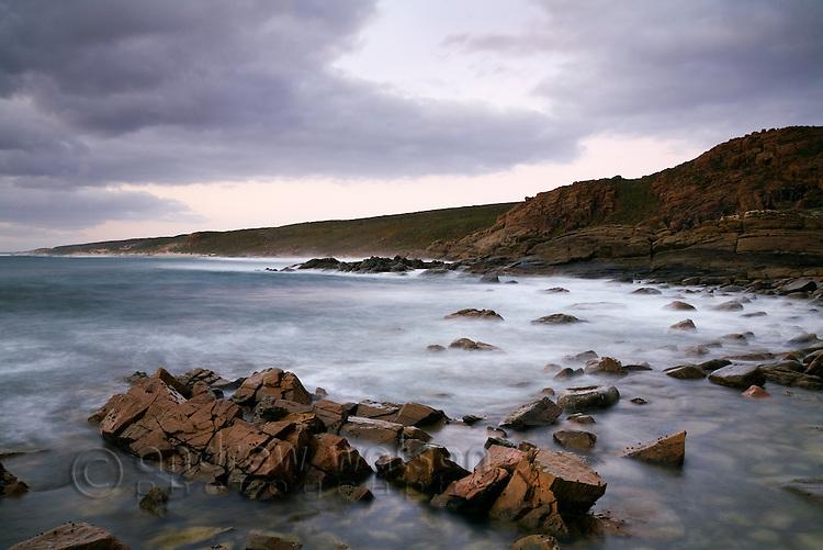Rugged coastline at Cape Naturaliste.  Leeuwin-Naturaliste National Park, Western Australia, AUSTRALIA.
