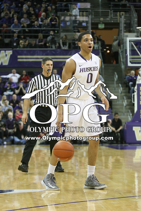 Jan 31, 2013:  Washington's Abdul Gaddy against Arizona.  Arizona defeated Washington 57-53 at Alaska Airlines Arena Seattle, Washington...