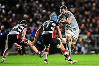 Elliott Stooke of Bath Rugby in possession. European Rugby Challenge Cup match, between Bristol Rugby and Bath Rugby on January 13, 2017 at Ashton Gate Stadium in Bristol, England. Photo by: Patrick Khachfe / Onside Images