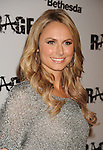 LOS ANGELES, CA - SEPTEMBER 30: Stacy Keibler  arrives at the Official Launch Party For RAGE Hosted By Charlize Theron at Chinatown's Historical Central Plaza on September 30, 2011 in Los Angeles, California.
