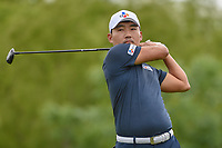 Sung Kang (USA) watches his tee shot on 4 during round 3 of the AT&T Byron Nelson, Trinity Forest Golf Club, Dallas, Texas, USA. 5/11/2019.<br /> Picture: Golffile | Ken Murray<br /> <br /> <br /> All photo usage must carry mandatory copyright credit (© Golffile | Ken Murray)
