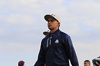 Rickie Fowler Team USA walk off the 9th tee during Friday's Fourball Matches at the 2018 Ryder Cup, Le Golf National, Iles-de-France, France. 28/09/2018.<br /> Picture Eoin Clarke / Golffile.ie<br /> <br /> All photo usage must carry mandatory copyright credit (© Golffile | Eoin Clarke)