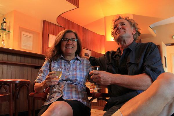 John and Beth preparing for Paris at the Hotel du Quai Voltaire.