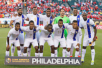 Photo before the match Chile vs Panama, Corresponding to Group -D- America Cup Centenary 2016 at Lincoln Financial Field.<br /> <br /> Foto previo al partido Chile vs Panama, Correspondiente al Grupo -D- de la Copa America Centenario 2016 en el  Lincoln Financial Field, en la foto: Seleccion de Panama<br /> <br /> <br /> 14/06/2016/MEXSPORT/Osvaldo Aguilar.