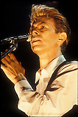 DAVID BOWIE - performing live on the opening date of the Sound + Vision Tour at the Colisee de Quebec in Quebec City Canada - 04 Mar 1990.  Photo credit: Christian Rose/Dalle/IconicPix