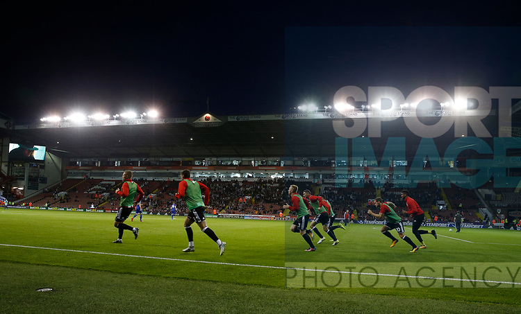 Half time warm up during the Carabao Cup, second round match at Bramall Lane, Sheffield. Picture date 22nd August 2017. Picture credit should read: Simon Bellis/Sportimage